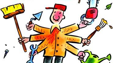 Karikatur Betriebshof