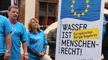 """Kampagne """"Wasser ist ein Menschenrecht"""""""