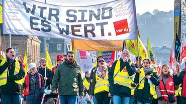 Demonstration Besoldungsrunde