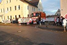 Warnstreik beim Bauhof Ansbach