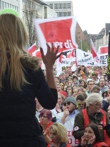 Warnstreik in Nürnberg