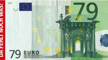 Geldschein - 79 Euro