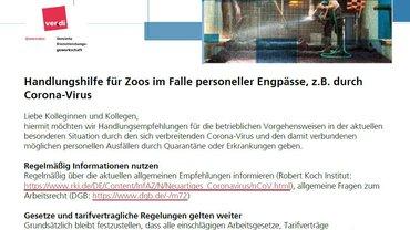 Infos für Zoos