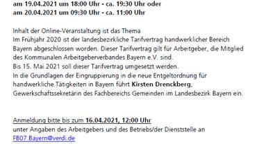 Einladung zur Online Veranstaltung am 19. & 20.04.21